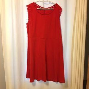 Talbots Pima Cotton Crochet Sleeveless Dress 2XP